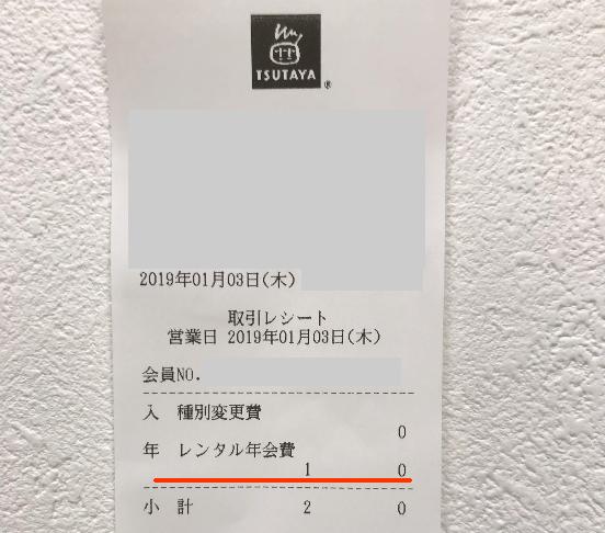 Yahoo JAPANカード TSUTAYAレンタル会員年会費