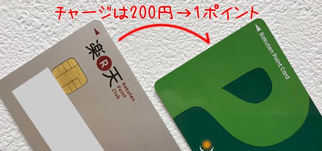 プロン党カードへのチャージは楽天カード