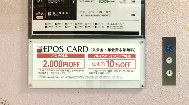 エポスカード2,000円分の優待券